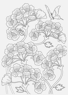 """Coloriage extrait de mon livre """"infiniment fleuri"""" aux éditions Solar http://ohhellojune.blogspot.fr/2015/01/accros-aux-coloriages-ce-livre-est-pour.html"""