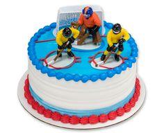 Hockey Face Off DecoSet® Cake Topper
