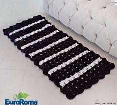 Вяжем крючком коврики. 4 схемы