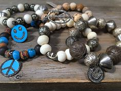 Garnet by Gwenn bracelets.. Adorable