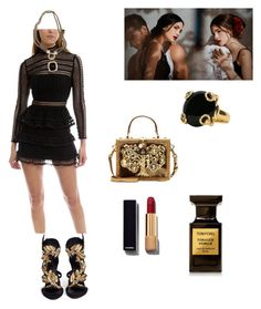 """Без названия #62"" by explorer-14485663539 on Polyvore featuring мода, self-portrait, David Yurman, Giuseppe Zanotti, Dolce&Gabbana, Gucci, Chanel и Tom Ford"