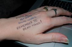 """28 Problems Every Type-A Person Will Understand """"Sometimes you will even write it on the back of your hand. It's PRACTICAL. I Don't Always, Literally Me, Make Me Happy, Tattoo Quotes, Writing, Humor, Type, Awesome, Intj"""