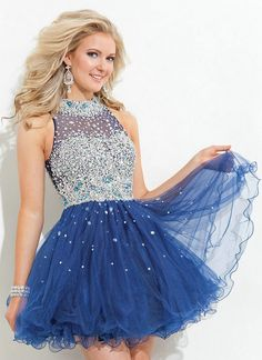 Navy Blue Cocktail Dresses Tulle High Neck Vestidos Homecoming Dresses Fuchsia Jade Short Prom Gowns 2016 New - http://www.onestopweddingstore.com/products/navy-blue-cocktail-dresses-tulle-high-neck-vestidos-homecoming-dresses-fuchsia-jade-short-prom-gowns-2016-new/