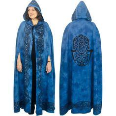 thenewagesource.com : Ritual Cotton Cloak Fatima Hand Blue