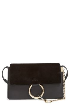 "Chloé Small ""Faye"" Shoulder Bag | Black"
