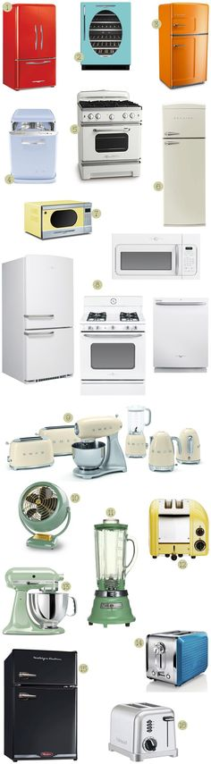 A great big round up of vintage-styled kitchen appliances