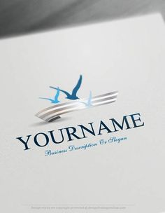 Seagulls fly Logo Templates Ready made Online company logo templates Decorated with an image of Seagulls fly over the sea