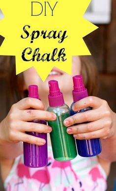 DIY Spray Chalk    Over 50 Ideas for Summer Crafts and Activities