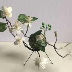 regram @maxine_greer_artist travellers joy #miniworld #wildflowers finally finished #silk #stitch #temari #japan #embroidery #sculpture #collectables #ivy #autumn