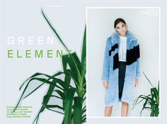 Stories Collective / Green Element / Photography Emma Pilkington / Styling Grace Alexander / Hair & Make up Amy Brandon / Model Emory at Premier / Design Fernanda Splendore #fashion #editorial #photography #plants #layout #design
