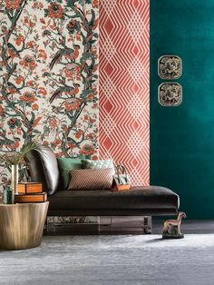 Best Interior Design Ideias for your living room rug decor! Display Design, Wall Design, House Design, Lofts, Fabric Display, Hotel Room Design, Sweet Home, Chinoiserie Chic, Asian Decor