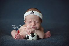 Newborn Photography soccer baby boy Adidas Royce Winnick Photography