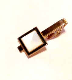 Vintage Mother of Pearl Tie Clip 1950s Tie Clip by transmigration