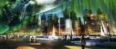 Přístavní část bude sloužit pro kontakt s okolním městem. foto: Vincent Callebaut Architectures