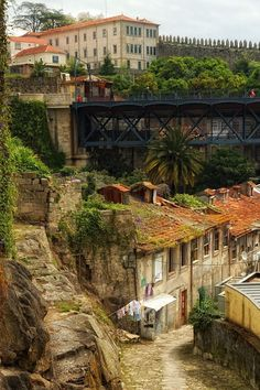Old Porto, Portugal. Spent many hours sipping port wines in Porto! Visit Portugal, Spain And Portugal, Portugal Travel, Faro Portugal, Great Places, Places To See, Beautiful Places, Places Around The World, Around The Worlds