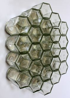 Honeycomb magnetic glass jar storage set 24 empty by XercesArt, £57.00