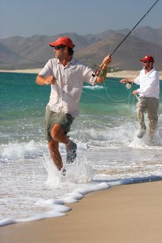 Baja Fly Fishing -- If it's that cold I usually wear waders.