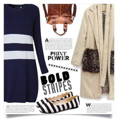 """""""Big, Bold Stripes"""" by dolly-valkyrie ❤ liked on Polyvore featuring chic, New and newchic"""