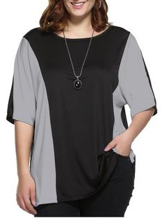 GET $50 NOW | Join RoseGal: Get YOUR $50 NOW!http://www.rosegal.com/plus-size-tops/plus-size-color-block-blouse-671212.html?seid=ekqi7ahqj2foqbp46668c44f06rg671212