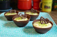 Panelaterapia   Mousse de Limão na Casquinha de Chocolate   http://panelaterapia.com