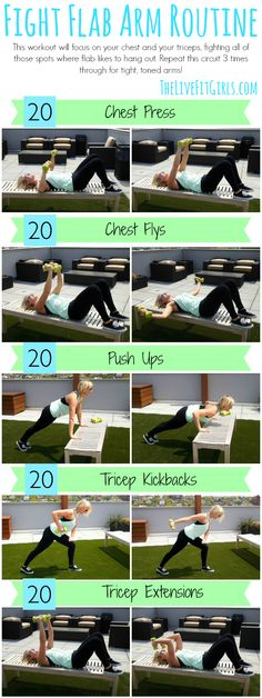 Workout Routines For The Gym : Fight Flab with this toning Arm Routine! - All Fitness Fitness Diet, Fitness Motivation, Health Fitness, Toned Arms, Muscular, Zumba, Get In Shape, Excercise, Diet Exercise