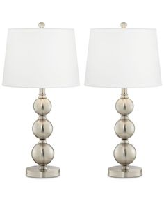 Set of 2 Quad Stacked Crystal Table Lamps - #X8518 | Lamps Plus ...