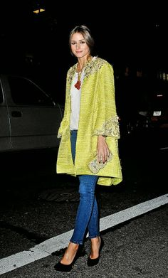 With my cream coat Olivia Palermo Best Fashion Moments 2013