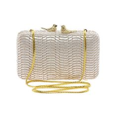 Love Moschino Clutch Bag With Bird Clasp ($341) found on Polyvore