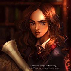 Hermione Granger! El resultado de los streamings 😊❤️ - 🔍Links to support my work (patreon) in my bio. _____________________________________ #cool #halloween #hermione #hermionegranger #illustration #photoshop #digitalart #drawing #study #instaart #instalove #style #portrait #harrypotter #witch  #beautiful #work #artwork #instaart #artist #art #numyumy #arts_help #fantasy #patreon #mangastyle #instacool #anime #manga #girl