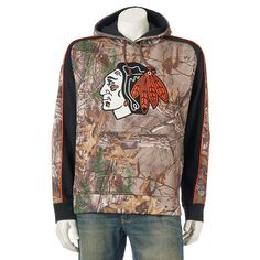 Men's Old Time Hockey Chicago Blackhawks Decoy Fleece Hoodie, Multicolor