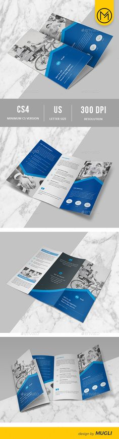 Trifold Brochure By Mugli Tri Fold This Is A Modern And Ful Template For Perfect Business Promotion Features Fully Layered Files Us Le