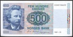 norway currency | Norway Paper Money, 1977-97 Series VI Issues