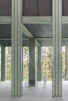 Visit the post for more. Studios Architecture, Facade Architecture, Interior Columns, Interior And Exterior, Retail Facade, Column Design, 3d Modelle, Facade Design, Facade House