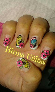 Uñas Decoradas  Birma Uñitas French Tip Nails, Nail Art Stickers, Spring Nails, Diy Nails, Lovers Art, Pretty Nails, Arts And Crafts, Art Crafts, Pedicure