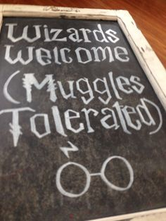 Wizards Welcome (Muggles Tolerated) Harry Potter first birthday theme