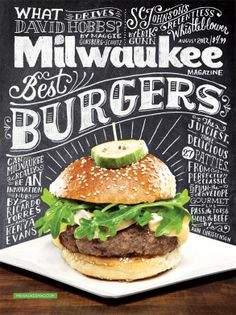 Milwaukee Magazine August 2012 Cover by Kathryn Lavey, via Behance