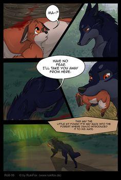 RoB 06 - English by RukiFox on DeviantArt Anime Wolf Drawing, Furry Drawing, Anime Animals, Cute Animals, Cute Wolf Drawings, Tier Wolf, Wolf Comics, Werewolf Art, Furry Comic