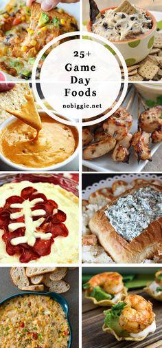 25+ game day food ideas | NoBiggie.net