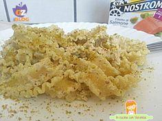 Reginette alla crema di  pistacchio e salmone