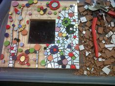 Mirall primaveral de mosaic