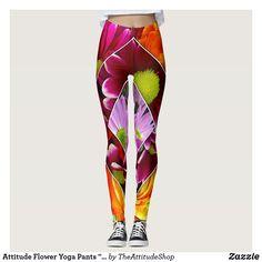 3fe4d757b21170 Attitude Flower Yoga Pants