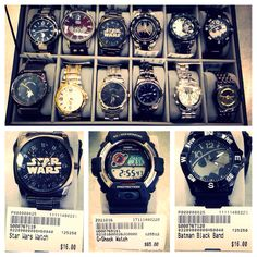 Looking for the perfect gift to get your man this year?? We have many watches to fit every personality ranging from $12-$65! #PlatosClosetUtica #GShock #StarWars #USPoloAssn
