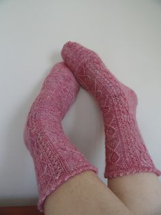 My socks! Ravelry: Hope Can Rock Socks pattern by Judy George Rock Socks, My Socks, One Color, Colour, Yarn Colors, Breast Cancer Awareness, Ravelry, Craft Ideas, Stitch