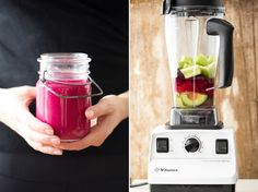 Detox Smoothie: 1 cup water or coconut water; 1/2 medium avocado, pitted; 2 celery stalks, roughly chopped; 1 cup strawberries (frozen preferred), hulled if necessary; 1 small/medium beet, ends trimmed and roughly chopped; 1 lemon, juiced (about 3 tablespoons or so); 1 tablespoon coconut oil; 4 large ice cubes; 1 apple ( if sweeter smoothie is desired - optional),  cored and roughly chopped