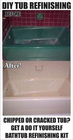Bathtub refinishing is a cheap and easy diy bathroom makeover instead of completely replacing a bathtub that is heavily worn or badly damaged. Remove and R