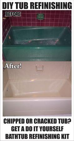 DIY   How To Restore And Refinish A Tub U2013 Bathtub Refinishing. Lets Make  That Pink Tub White!