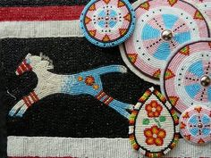 and love the beautiful beadwork Powwow Beadwork, Indian Beadwork, Native Beadwork, Native Beading Patterns, Beadwork Designs, Seed Bead Patterns, Loom Patterns, Native American Regalia, Native American Crafts