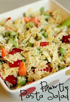 Bowtie Pasta Salad. Quick, easy and yummy!!
