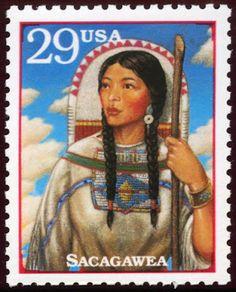 Postage stamp, Sacagawea