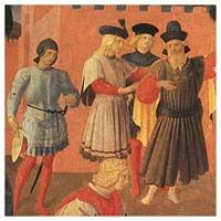 towards the middle of the 14th century, people started to wear soled hose which did away with the need for shoes altogether.